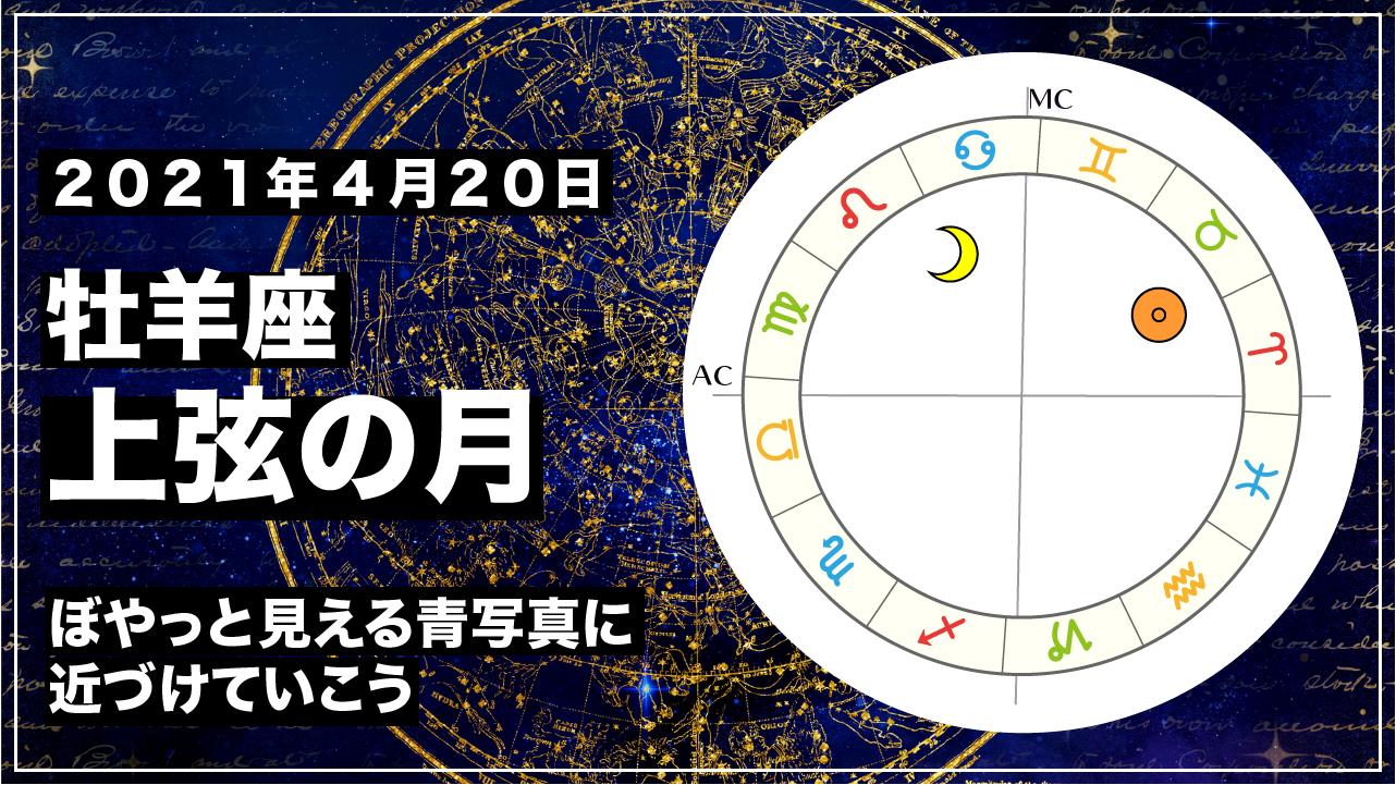 2021年4月20日 獅子座上弦の月|ぼやっと見える青写真に近づけていこう