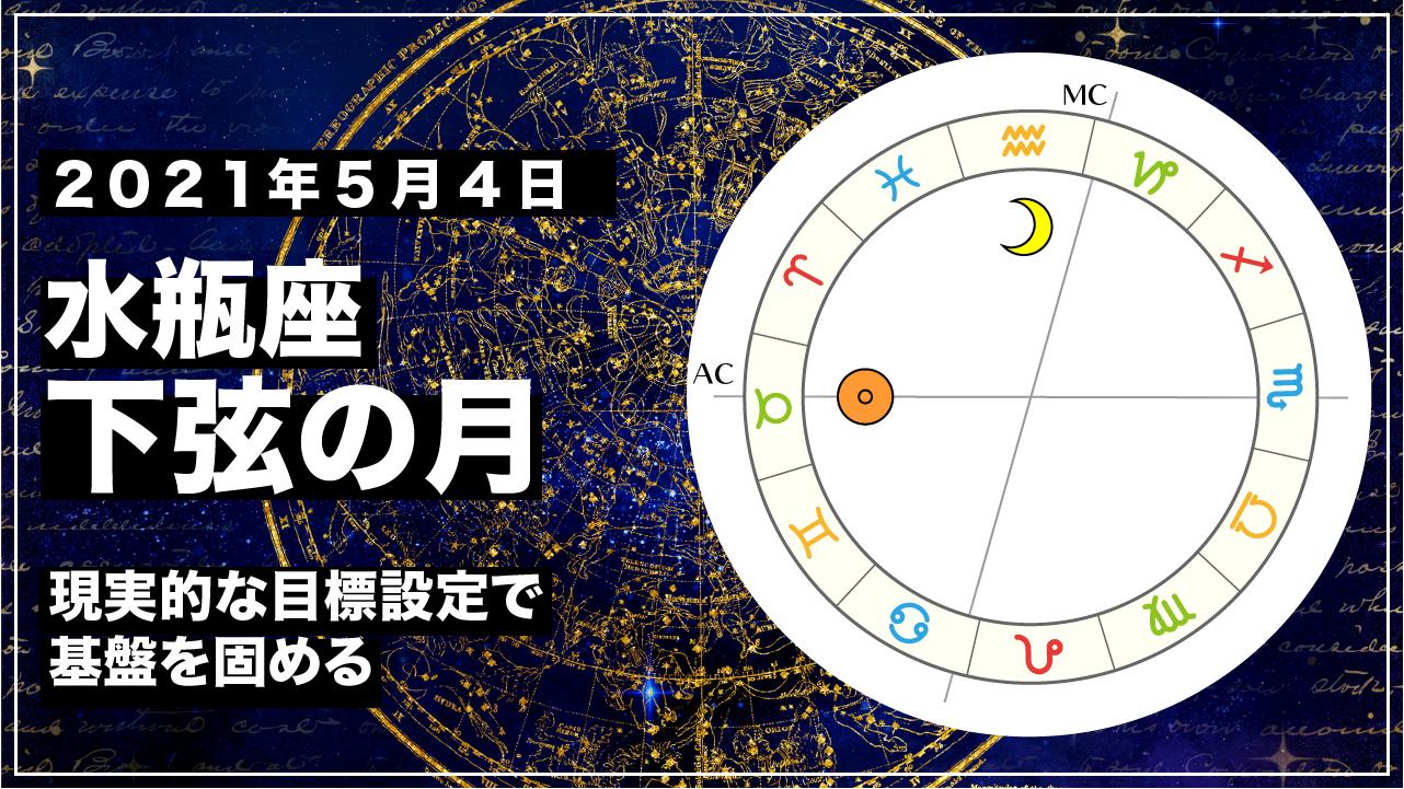 2021年5月4日 水瓶座下弦の月|現実的な目標設定で基盤を固める